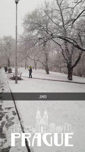 פראג בשלג