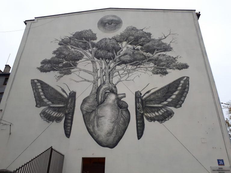 לודז' פולין אומנות רחוב וגרפיטי