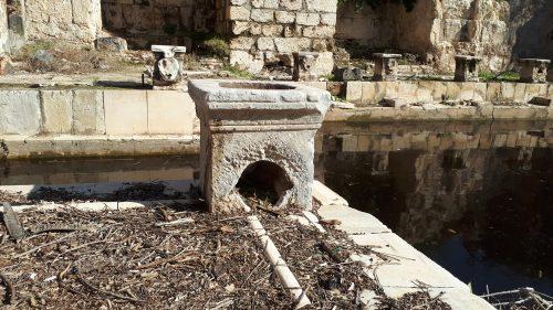שרידי מרחצאות רומיים בעין ג'ונס