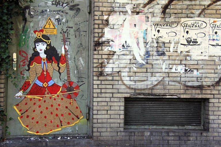 תנו לרקוד. יצירה של אומן הגרפיטי האיראני