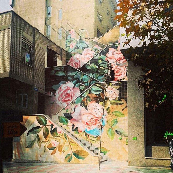 מדרגות מצויירות בטהראן