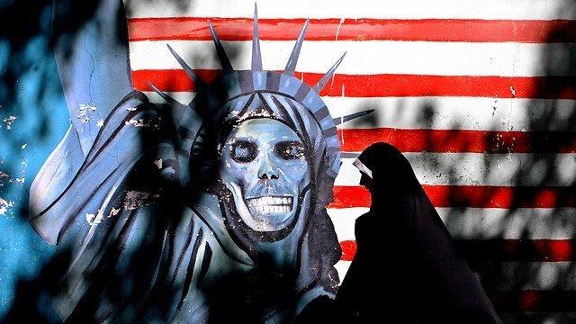 מחאה איראנית נגד אמריקה