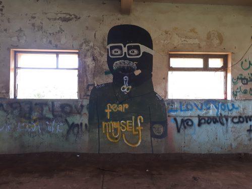 גרפיטי בבסיסים נטושים בגולן
