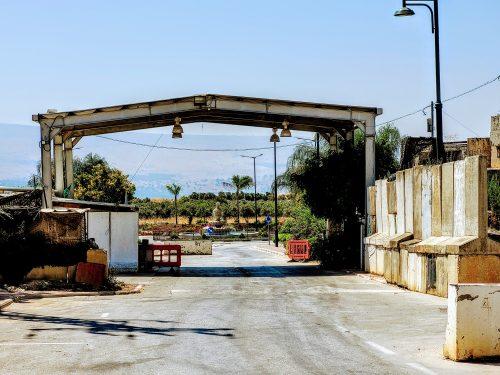 ע'ג'ר כניסה לכפר
